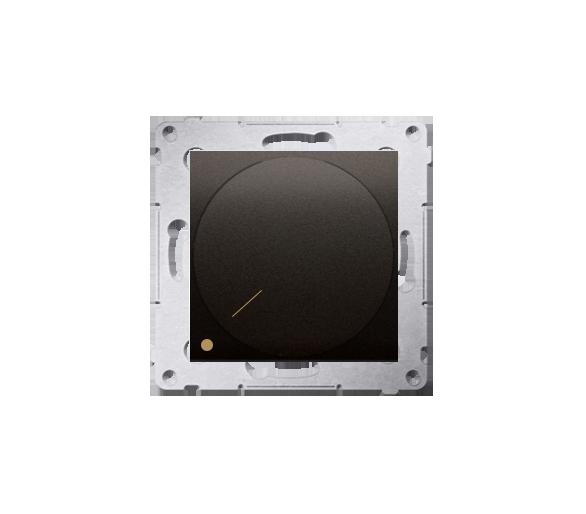 Ściemniacz do LED ściemnialnych, obrotowy, dwubiegunowy brąz mat, metalizowany DS9L2.01/46