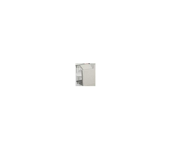Zaślepka otworu wtyku RJ45/RJ12  pokrywy gniazda teleinformatycznego satynowy, metalizowany