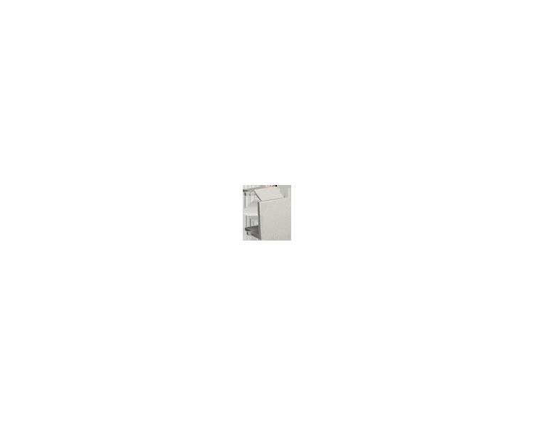 Zaślepka otworu wtyku RJ45/RJ12 pokrywy gniazda teleinformatycznego satynowy, metalizowany BWB/29