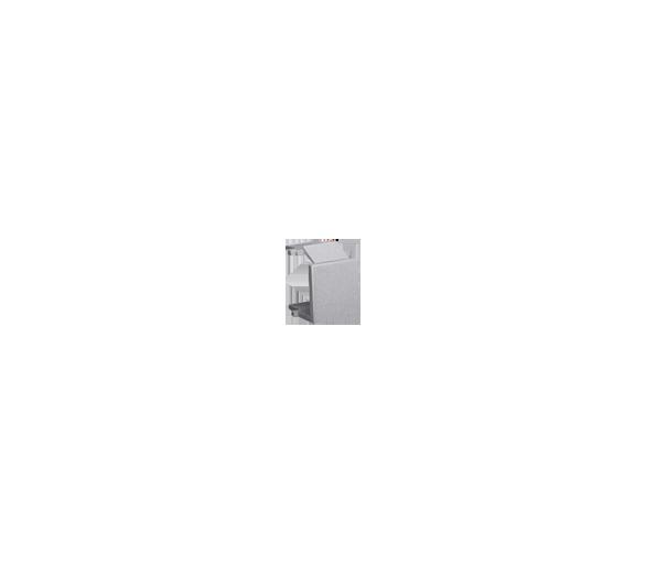 Zaślepka otworu wtyku RJ45/RJ12  pokrywy gniazda teleinformatycznego inox, metalizowany