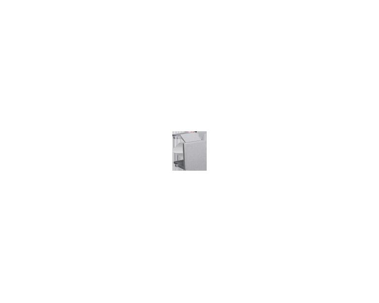 Zaślepka otworu wtyku RJ45/RJ12 pokrywy gniazda teleinformatycznego inox, metalizowany BWB/21