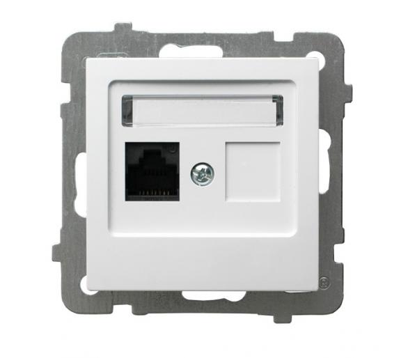 Gniazdo komputerowe pojedyncze, kat. 5e MMC biały As GPK-1G/K/m/00