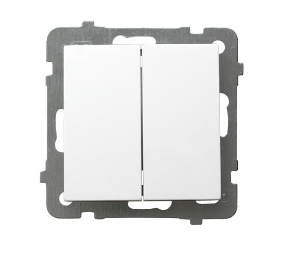 Łącznik podwójny schodowy biały As ŁP-10G/m/00