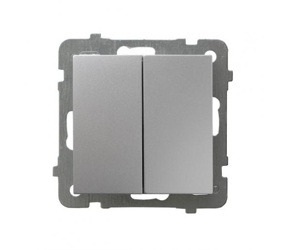 Łącznik dwugrupowy świecznikowy srebro As ŁP-2G/m/18