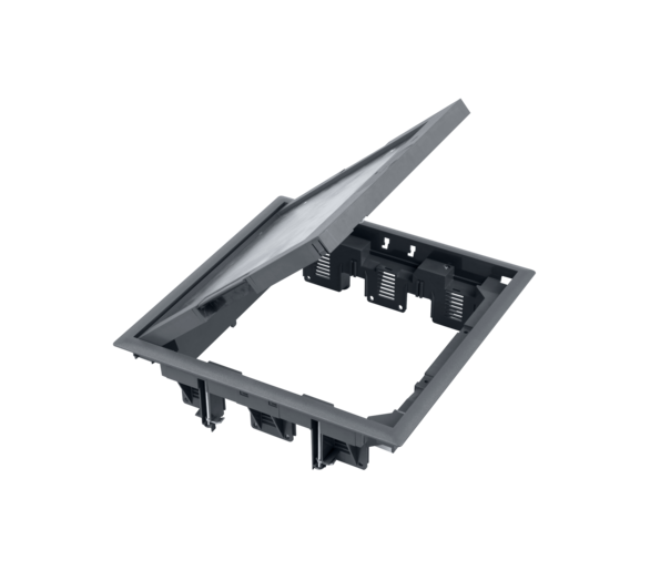 Puszka podłogowa FB kwadratowa 12×K45 5mm szary FB34005/1