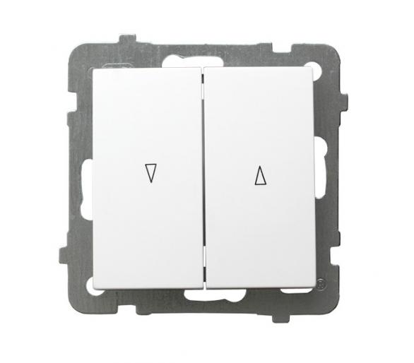 Łącznik żaluzjowy, zwierny biały As ŁP-7G/m/00