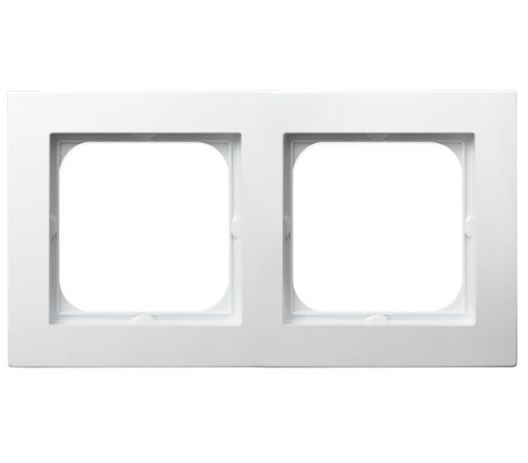Ramka podwójna biały As R-2G/00