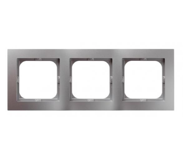 Ramka potrójna srebro As R-3G/18