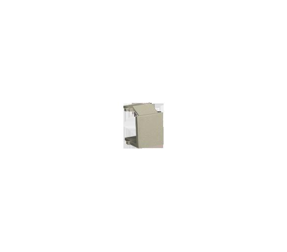 Zaślepka otworu wtyku RJ45/RJ12  pokrywy gniazda teleinformatycznego platynowy, metalizowany