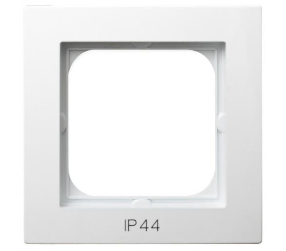 Ramka pojedyncza do łączników IP-44 biały As RH-1G/00
