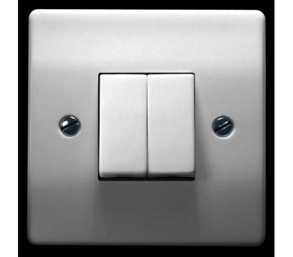 Łącznik dwugrupowy świecznikowy biały Eta ŁP-2E/00