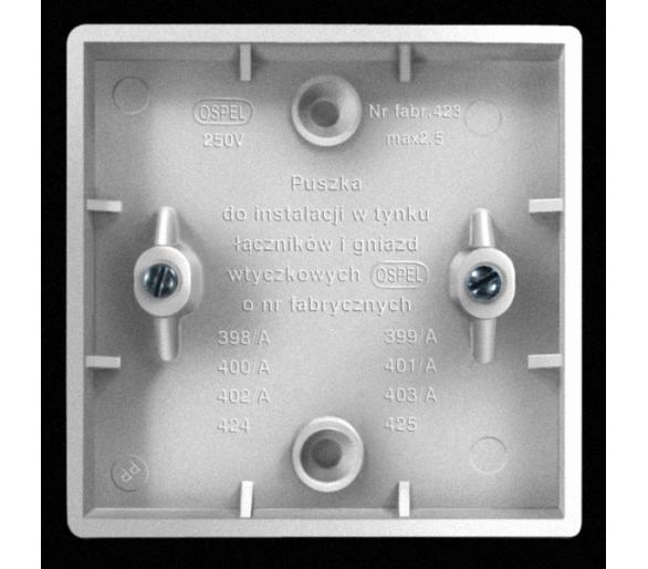Puszka do wyrobów z serii Eta biały Eta PWP-E/00
