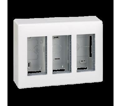 Obudowa natynkowa SIMON 500 3×S500 6×K45 czysta biel 51000003-030