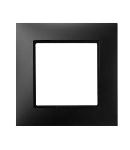 aria-r-1u-33-ramka-pojedyncza-czarny-met